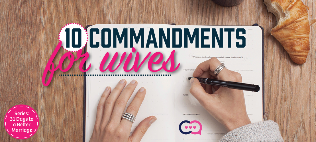 10 Commandments for Wives